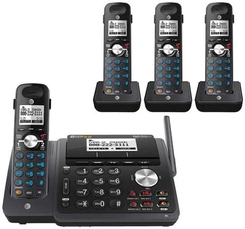 AT&T TL88102 2-line answering System with 3 Handsets (Black)