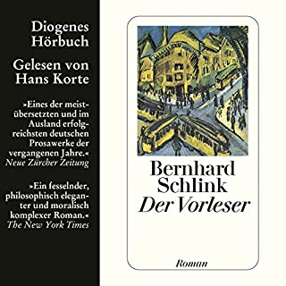 Der Vorleser                   By:                                                                                                                                 Bernhard Schlink                               Narrated by:                                                                                                                                 Hans Korte                      Length: 4 hrs and 58 mins     9 ratings     Overall 4.6