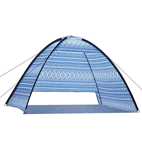Pop Up Beach Tent, Sun Shelter, Automatic Pop Up Tent, Portable, Lightweight, 1-4 Persons, UV Protection, Beach, Outdoor/Indoor Camping, Bohemian, Blue, 2020 Newest