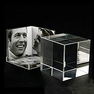 NAHASU   Frame   3-Side Desktop Clear Acrylic Picture Photo Cube for Multi Photos PF033