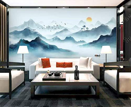 HONGYUANZHANG Elegante Sonnenaufgangansicht Benutzerdefinierte 3D-Fototapete Künstlerische Landschaft Tv Hintergrundbild,140Inch (H) X 172Inch (W)