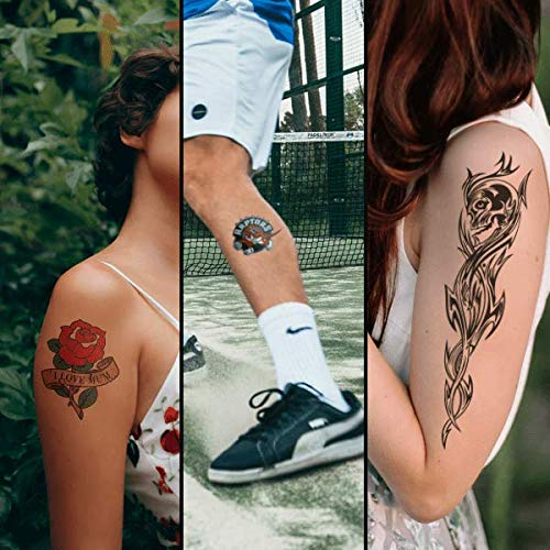 FOREVER temporäre Tattoo Transferfolie A4 für Laserdrucker – hautverträglich, wasserresistent (5 Blatt)
