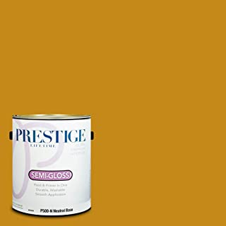 Prestige Paints P500-N-SW6692 Interior Paint and Primer in One, 1-Gallon, Semi-Gloss, Comparable Match of Sherwin Williams Auric, 1 Gallon,