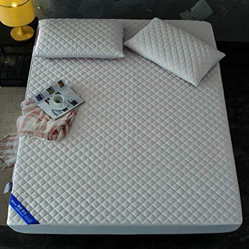 WYJHNL matrasbeschermer waterdicht matrasbeschermer met ademende katoenen binnenkern en stretchband gewatteerde matrasbeschermer past voor matras diep 5-28 cm 70x160cm grijs