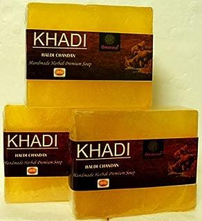 Khadi Haldi Chandan Soap (Pack of 3) 125 gm X 3