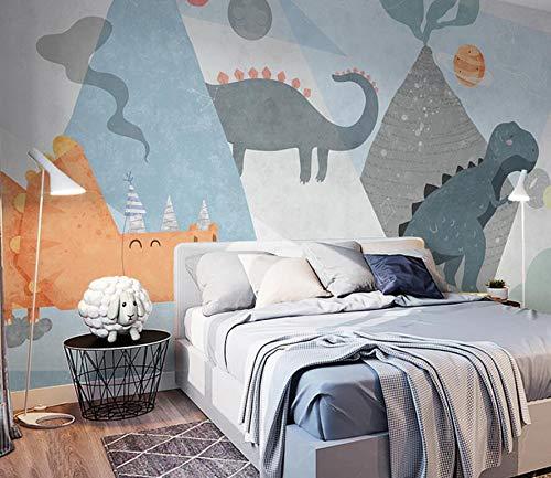 Cartoon dinosaurier tapete kinderzimmer junge mädchen zimmer hintergrund wandmalerei schlafzimmer dekoration einfache moderne tapete 200 cm * 140 cm