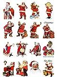 Decoupage Paper Pack (10sheets A4 / 8'x12') Vintage Christmas Santa FLONZ Vintage Ephemera