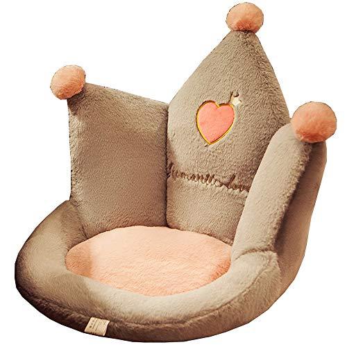 LJFYXZ Cushion Chair 2 Sizes Plush Seat Cushion Indoor Floor Stuffed Sofa Decor Pillow for Children Grownups Gift (Color : Gray, Size : 45x45x40cm)