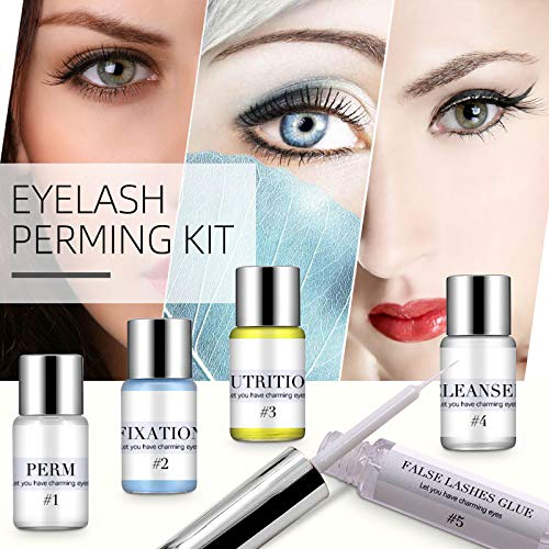 Kit de Permanente de Pestañas,Kit de elevación de pestañas Kit de permanente de pestañas,Lifting Pestañas,Lash Lift Kit,Eye Lash Lift Herramientas de Maquillaje Curling de Pestañas Duradero y Natural