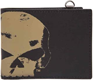 Harley-Davidson Men's Skull Chop Bi-Fold Wallet, Genuine Leather HDMWA11105-BLK