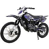 X-PRO 2021 Version Hawk 150cc Adults Dirt Bike Pit Bike Youth Dirt Pit Bike,Big 19'/16' Wheels! (Blue)
