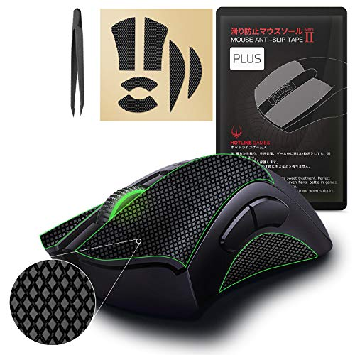 [Grip Upgrade] Hotline Games 2.0 Plus Mouse Grip Tape for Razer Deathadder V2 Gaming Mouse Anti-Slip Tape,Cut to Fit,Sweat Resistant,Easy to Use,Professional Mice Upgrade Kit