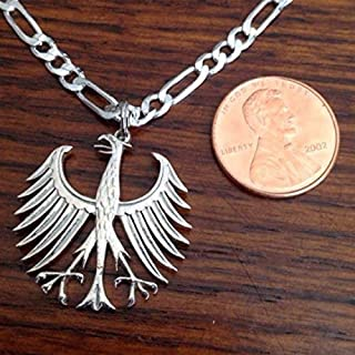 German Five Mark Cut Out Coin Jewelry Necklace Germany Silver Five Mark Necklace