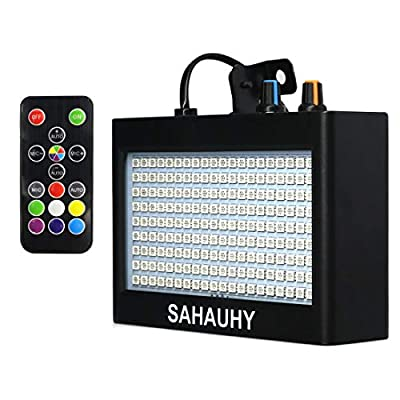 Strobe Lights,SAHAUHY 2019 35W 180 LEDs Super Bright Flash Stage Lighting with Remote Control(Black)