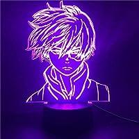 3DイリュージョンランプLEDナイトライトアニメ僕のヒーローアカデミア轟焦凍キッズルームデコレーション僕のヒーローアカデミアおもちゃギフト人形