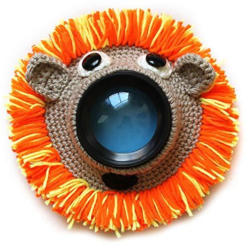 Camera Buddie, Baby Fotografie Requisiten Kamera Objektiv Dekoration Shutter Huggers niedlich gestrickt Tier Spielzeug Posing Requisiten Linse Zubehör für Neugeborene Baby, 1, Free Size