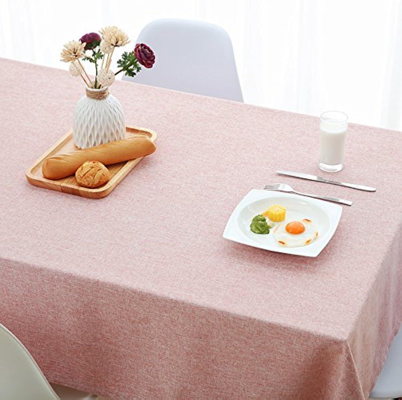 Woo.L.L Rosa reine Farbe Einfache Esstisch Tuch Tuch Baumwolle Cotton Home wasserdichte Esszimmer Wohnzimmer Rechteck Wallpaper,110  160cm B076WF18FN Merkwürdige Form   Zart