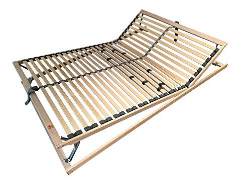 sette notti Lattenrost 140x200 Fertig Montiert, Fuß und Kopfteil verstellbar für alle Betten geeignet, Material Birke Massivholz-Buche Massiv, Art Nr. 1271-80-3000