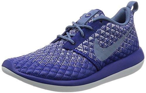 Nike Women's Roshe Two Flyknit 365 Deep Royal Blue/Ocean Fog Ankle-High Fashion Sneaker - 6.5M