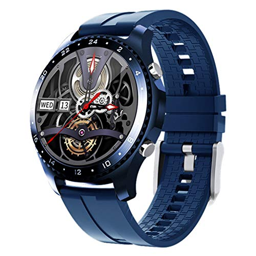 APCHY Reloj Inteligente Smartwatch GPS para Hombres,30 Llamadas Bluetooth,Seguidores De Actividades De Frecuencia Cardíaca,Presión Arterial, Pulsera Inteligente Deportiva, Medición De Temperatura,H