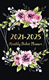 2021-2025 Monthly Pocket Planner: Floral Watercolor Cover | 5 Year Pocket Planner and Monthly Calendar with Holidays | Agenda Schedule Organiser and ... Jan 2021 - Dec 2025 | Appointment Notebook