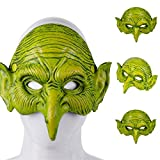 Shan-S Halloween Mask, Unisex Villain Costume Party Ball Halloween Mardi Gras Carnival Cosplay Costume Party Half Face Animal PU Foam Witch Mask