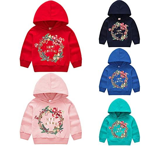 YQSR Sudadera con capucha para nios y nias, manga larga, cuello redondo, otoo e invierno, unisex, para beb, ropa de Navidad