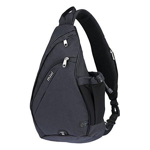 """Mixi multiuso Sling Cross Body Bag spalla scuola dello zaino di sport esterni di viaggio zaino (Nero, 17"""")"""