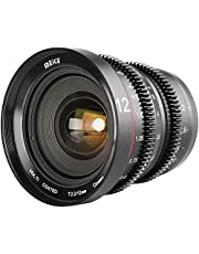 Meike 12 mm T2.2 MFT obiektyw kinowy, obiektyw filmowy z ręczną regulacją ostrości, natężenie światła T2.2