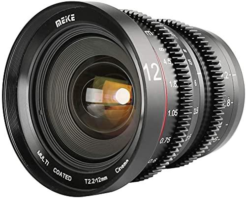Meike Objetivo Cinema T2.2 MFT de 12 mm, Objetivo de película con Enfoque Manual,...