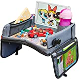 Kids Travel Tray, Kids Art Set, 13.5 x 12 inches Travel Art Desk for Kids, Activity, Snack, Play Tray & Organizer - Keeps Children Entertained – Portable and Foldable + Storage Bag