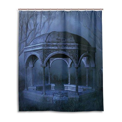 Bad Vorhang für die Dusche 152,4x 182,9cm Gothic Dark todesopfer Tür Polyester-Schimmelfest-Badezimmer Vorhang