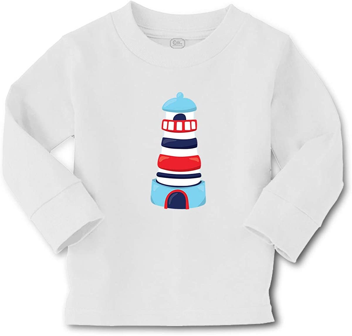 Cute Rascals Kids Long Sleeve T Shirt Lighthouse Cotton Boy & Girl Clothes Funny Graphic Tee