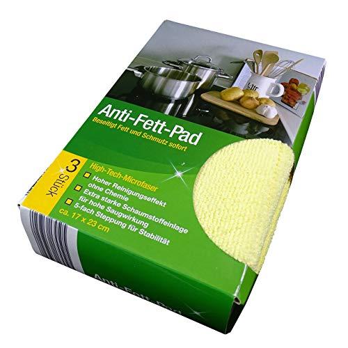 Anti-Fett-Pad Reinigungstuch 3er Pack