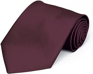 Wine Premium Solid Color Necktie