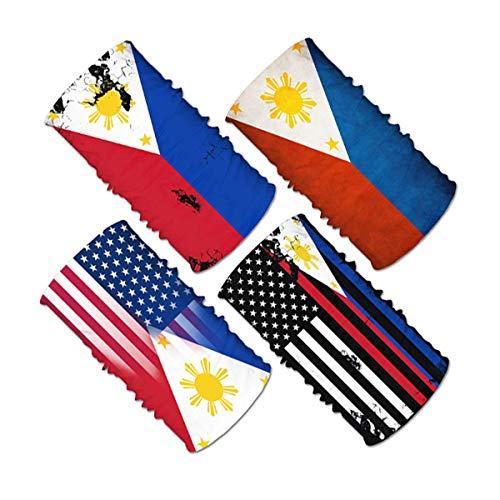 4pcs Philippines Flag Face Scarf Magic Tube...