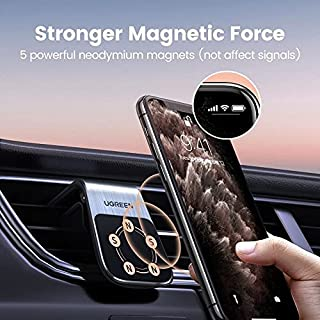 ICYSTOR UGREEN Phone Holder Magnetic Car Holder Mount Stand Car Air Vent Clip Magnet Mount for iPhone 11 Pro Max Xiaomi GPS
