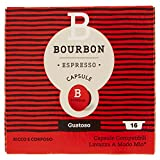 Bourbon Espresso, Gustoso - Confezione da 16 Capsule...