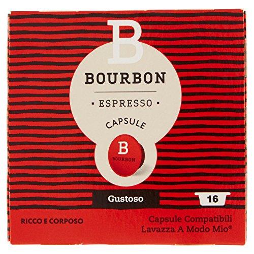 Bourbon Espresso Capsule Gustoso - 8 Confezioni da 16 capsule [128 Capsule]