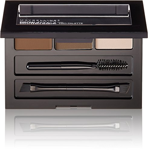 Maybelline New York Brow Drama Pro Eyebrow Palette, Deep Brown, 0.1 oz.
