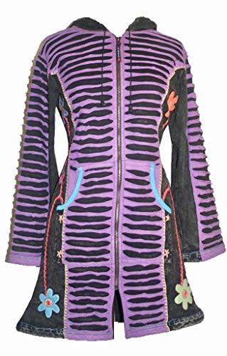 Agan Traders 323 RJ Long Bohemian Insulated Jacket Coat (XL, Purple)