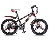 Vélo Enfant 21 Vitesses VTT avec Freins à Disque et Freins à Disque Arrière 20 inch pour 6-12 Ans Garçon Et Fille,Red