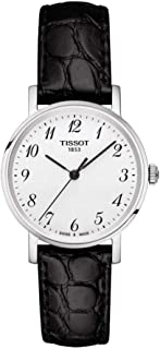 Women's Quartz Watch with Stainless-Steel Strap, Black, 15 (Model: T1092101603200)
