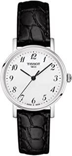 Tissot Women's Quartz Watch with Stainless-Steel Strap, Black, 15 (Model: T1092101603200)