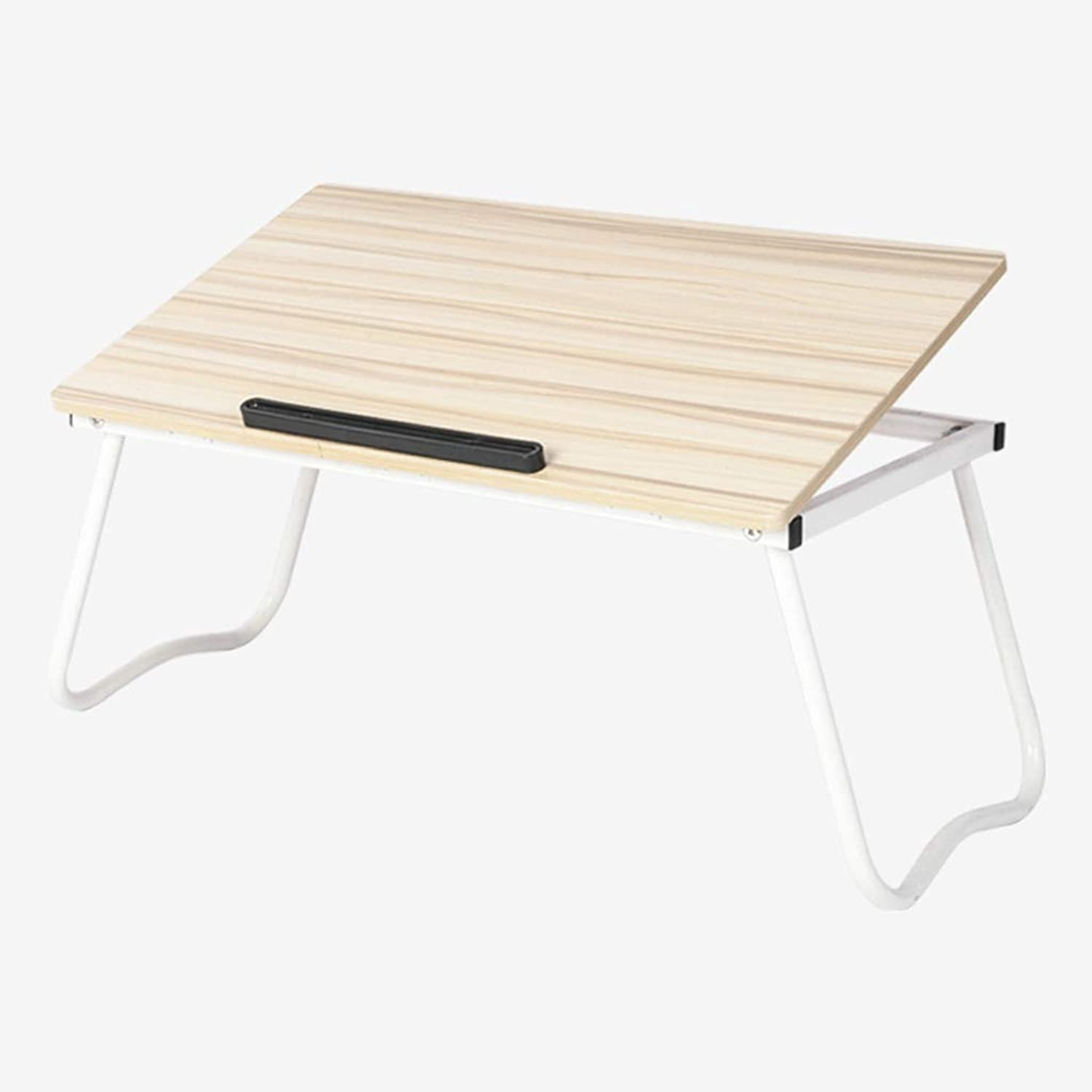 Laptop Bed Computer Table Lazy Table Free Inssizetion Foldable Lazy Small Table Simple Fashion Desk Study Table (color   A)