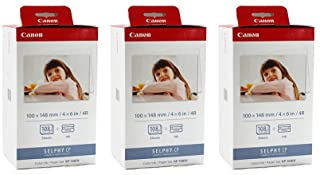 Canon KP-108IN Color JOPmDt Ink and 4 x 6 Paper Set, 108 Count (Pack of 3)