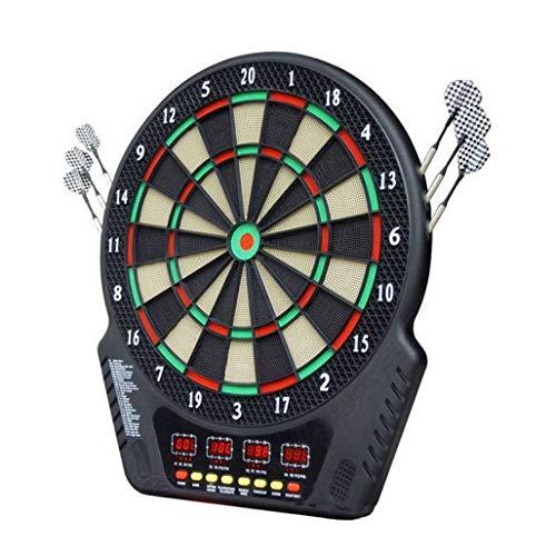DPPAN Elektronische Dartscheibe Dartboard 4 LCD-Anzeige, automatische Zählen 27 Spielen 243 Varianten, umfassen 6 Dartpfeile Soft-Tipps 24 16 Spieler,Multicolor