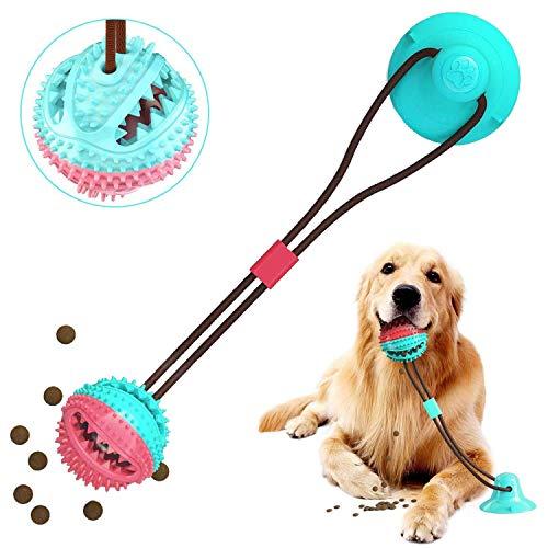 Hundespielzeug mit Saugnapf, Pet Molar Chew Spielzeug, Dog Interactive Molar Kauspielzeug, Futterspielzeug Durable Treat Dispenser Zahnreiniger, Pet Rope Spielzeug für große kleine Hunde Welpen
