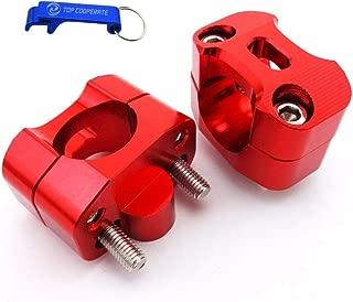 TC-Motor Red Aluminum Handle Bar Risers Taper Mount Clamp For 1 1/8