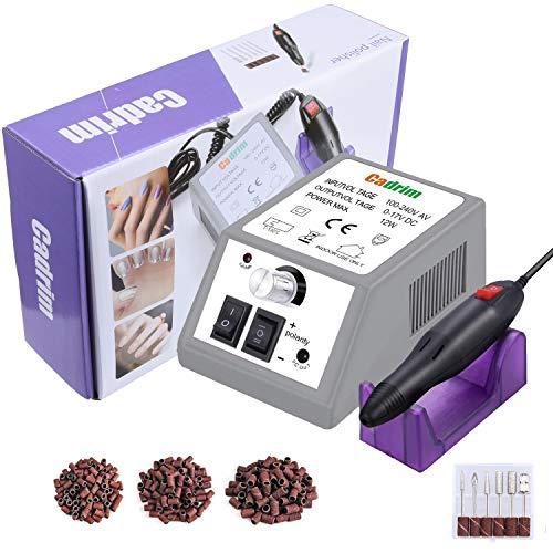 Elektrisch Nagelfräser, Elektrische Nagelfeile Set Maniküre Pediküre Elektrisch für Nagelstudio Persönliche DIY-Maniküre (lila)
